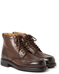 Tom Ford Burnished Leather Hiking Boots