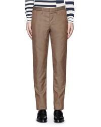 Incotex Archivio Glen Plaid Cotton Wool Pants