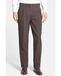 Berle self sizer waist pleated trousers medium 163405
