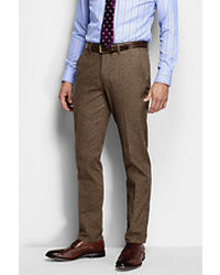 Classic Slim Fit Brushed Cotton Trouser Pewter Prince Of Wales