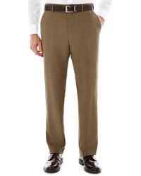 Stafford Stafford Travel Flat Front Sharkskin Dress Pants Classic