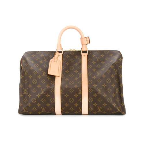 62e7d3af19b4 ... Brown Duffle Bags Louis Vuitton Vintage Keepall 45 Monogram Travel Bag  ...