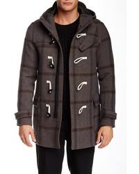 The Kooples Plaid Wool Toggle Coat