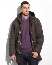 Tommy Hilfiger Coats Melton Wool Hooded Toggle Coat