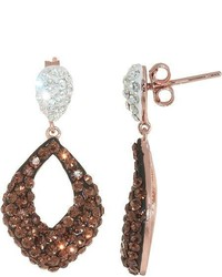 FINE JEWELRY Brown Crystal Teardrop Earrings