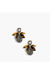 J.Crew Pav Drop Earrings With Tortoise