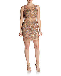 Adrianna Papell Embellished Sleeveless Sheath Dress