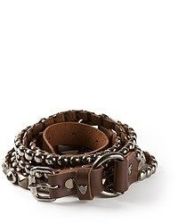 Hollywood trading company htc chain and studded belt medium 51423