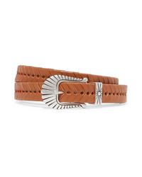 Isabel Marant Jigoo Embellished Braided Leather Belt