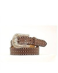 Nocona western belt leather studded crystal n3487802 medium 51433