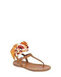 Prada Ankle Tie T  Sandal
