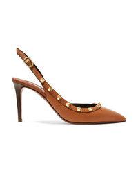 Valentino Garavani The 85 Textured Leather Slingback Pumps