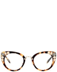 Miu Miu Embellished Cat Eye Glasses
