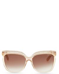 a5a6df4fb21f ... Jimmy Choo Sophia Embellished Sunglasses Nude