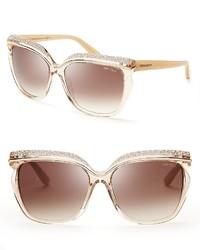 Jimmy Choo Sophia Oversized Crystal Sunglasses