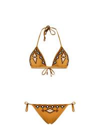Fisico Embroidered Pattern Bikini