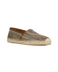 Etro Embroidered Pattern Espadrilles