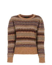 Fair isle puff sleeve sweater medium 8621520