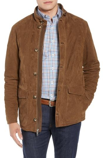 Peter Millar Glenwood Leather Jacket
