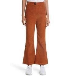 Awake Awake Crop Flare Corduroy Trousers