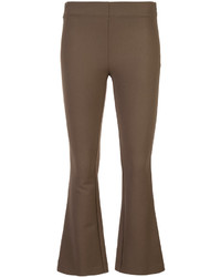 Dusan Fitted Cropped Flared Trousers
