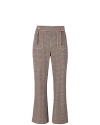 See by Chloe See By Chlo Cropped Houndstooth Trousers