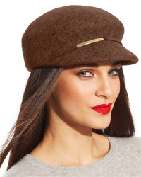 Nine West Felt Metallic Trim Newsboy Cap