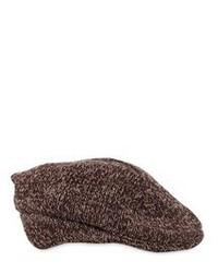 Lardini Wool Blend Knit Flat Cap