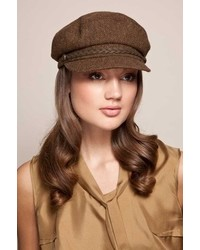 Eugenia Kim Marina Captains Cap In Brownbrass