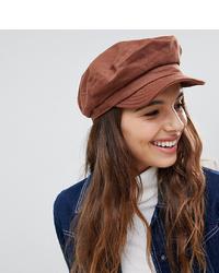 Brixton Unstructured Baker Boy Hat In Chestnut