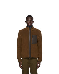 Ermenegildo Zegna Brown Fleece Jacket