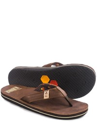 Freewaters Channel Islands Flip Flops Leather