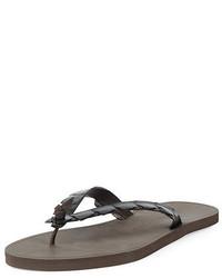 Bottega Veneta Crocodile Flip Flop Sandal