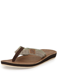 Original Penguin Del Mar Slip On Thong Sandal Brown