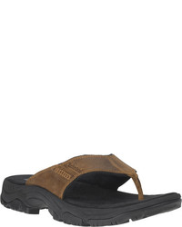 Timberland Earthkeepers Crawley Flip Flop Brown Full Grain Leather Thong Sandals