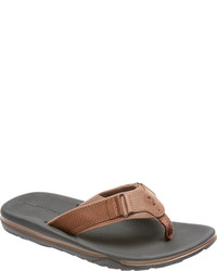 Rockport Wear Anywhere Flip Flop Black Leather Thong Sandals