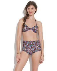 Giejotm triangle tie bikini top in floral medium 67579