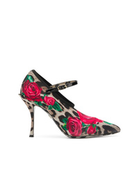 Dolce & Gabbana Mary Jane Printed Pumps