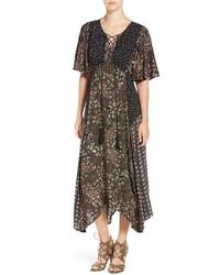 Floral patchwork maxi dress medium 834681