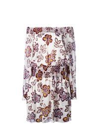 Tory Burch Floral Print Off Shoulders Dress