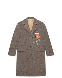 Gucci Wool Coat With Embroideries