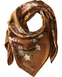 Valentino Flemish Flowers Twill Scarf Scarves