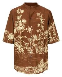 Salvatore Ferragamo Floral Print Shirt