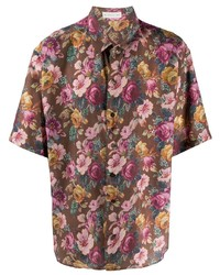 Etro Short Sleeved Floral Print Shirt