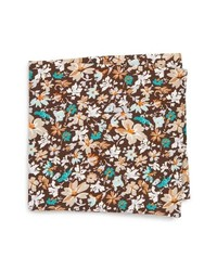 Eton Floral Cotton Silk Pocket Square