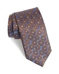 David Donahue Floral Silk Tie