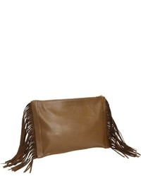 Fringe clutch olive medium 320257