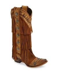 Lane Boots Wind Walker Fringe Knee High Western Boot