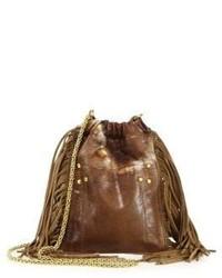 Jerome Dreyfuss Fringed Tie Dye Leather Crossbody Bag