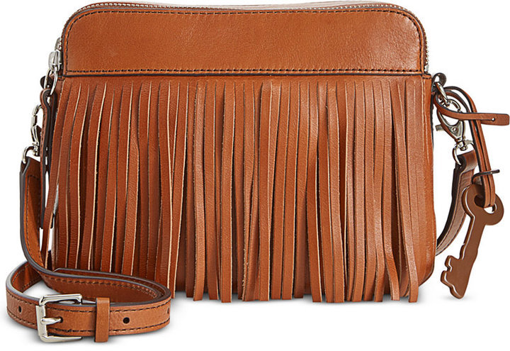 Fossil Sydney Leather Fringe Crossbody